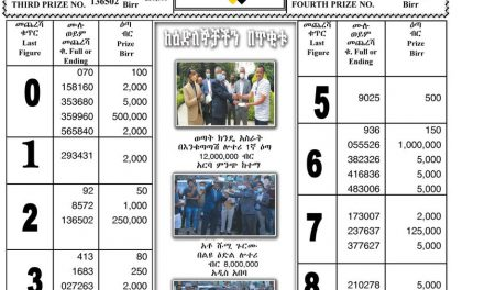 Regular Draw Lottery for August 05, 2021 (ሀምሌ 29 ፤ 2013) Winning Numbers