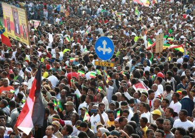 Dr abiy ahmed support rally mass demonstration mesqel square addis ababa ethiopia june 23 2018 2