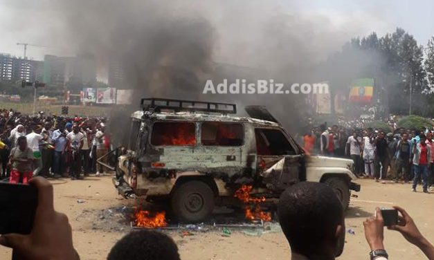 A Bomb Exploded on Dr Abiy Ahmed's Support Rally (Demonstration) at Mesqel Square, Addis Ababa Ethiopia on Saturday June 23, 2018