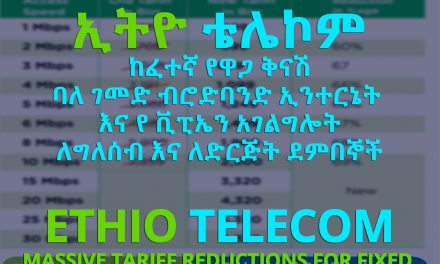 Ethio-Telecom Enterprise (Business) Unlimited Fixed Broadband Internet Tariff / Prices