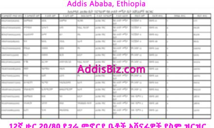 List of Names for 12th Round 20/80 Condominium Winners in Addis Ababa Ethiopia [PDF]